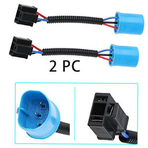 Pair 9007 Male to H4 Female Headlights Conversion Harness Adapter for Hummer H2
