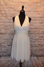 Modcloth Set in Your Sways Dress Ivory NWOT XL chiffon $130 Pin-up Monroe drape