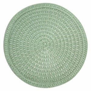 """Set of 4 Fall Placemats 15"""" Woven YOU CHOOSE COLOR Easy-Clean Round Circle"""