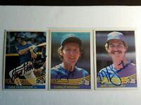 1984 Donruss Rangers Auto Lot Autograph Signed Card Hough Smithson Hostetler