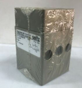 """SEITZ Typ. 337 Art. No. 103.951.00 3/2-Way Air-Pilot Pneumatic Valve 1/4"""" 40 bar"""