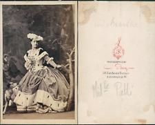 Camille Silvy, Adélina Patti vintage CDV albumen carte de visite  CDV, tirage