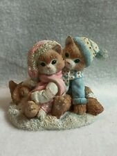 Enesco Calico Kittens Figurine - 'Tis' the Season for Sharing'