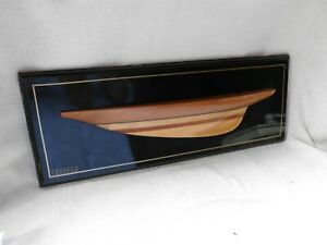 AMERICAS CUP CHALLENGE 1887 'THISTLE' HALF HULL YACHT PICTURE NAUTICAL WORK ART
