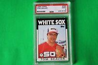 1986 TOPPS #390 TOM SEAVER CHICAGO WHITE SOX PSA 9 MINT HOF