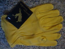 Deerskin Leather Work gloves, unlined, Large, North American Trading