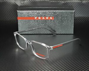 PRADA LINEA ROSSA PS 04IV 2AZ1O1 Transparent Demo Lens Men's Eyeglasses