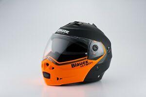 Blauer Sky Matt Black / Orange Flip-Front Helmet RRP £219 *FREE UK DELIVERY*