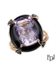 FPJ With 14.08ctw Precious Stones - Genuine Amethyst,Diamonds and Onyx !!!