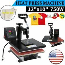 High Pressure Dual-display Digital T-shirt Clothes Printer Heat Press Machine US