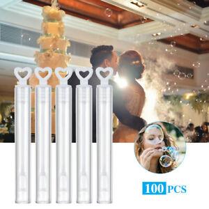 50/100Pcs Wedding Soap Bubble Empty Bottle Love Heart Soap Water Bottles Tube H