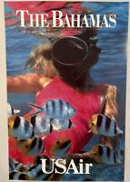 "USAir The Bahamas Poster 24"" x 36"""