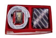 Set Regalo Uomo Cintura Cinta Fibbia e Cravatta in Confezione Elegante hac