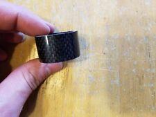 Carbon Fiber Bike Headset Stem Spacer 20mm for 1 1/8 steertubes Black