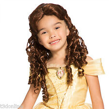 Authentic Disney Beauty & the Beast  Princess Belle Costume Wig for Kids