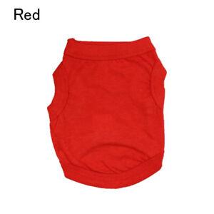 Pet Solid Basic Clothes Cotton Dog Vest Summer T-Shirt Puppy Simple