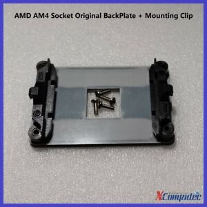 AMD AM4 Socket Original Mounting Kit two Plastic Head with 4x Screws + Backplate