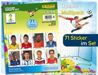 Panini WM 2014 Brasil Update Set alle 71 Sticker der nachnominierten Spieler Neu