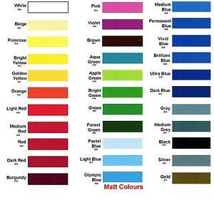 Self Adhesive A4 Sheets MATT pks of 20,10,5 OR 3 Sticky Back Plastic Sign Vinyl