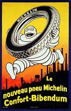 Vintage 1926 neumáticos Michelin A2 cartel Impresión De Publicidad