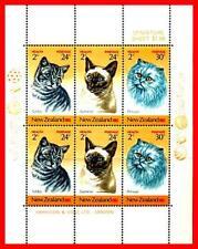Neuseeland 1983 Katzen M/S SC# B117a MNH Tieren (E15-7)
