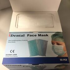 Ear Loop Procedure Medical Surgical Face Mask (White) (2 Boxes) (100 Total)