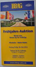 BBAG *Früjahrs-Auktion *Baden-Baden *2000* Vollblutzucht + Rennen *Pferde
