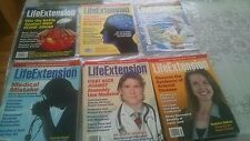 Lot of 6  LIFE EXTENSION Magazine 2014 - Feb March April May June October -