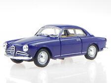 Alfa Romeo Giulietta Sprint blau Modellauto in Vitrine Solido 1:43