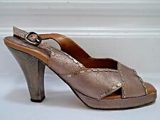 CALLEEN CORDERO crackled leather with stud detailing sandals heels size 8