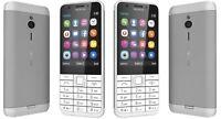 Brand New Nokia 230 **DUAL SIM** Unlocked Mobile Phone - sliver white GENUINE