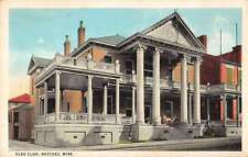 Natchez Mississippi Elks Club Antique Postcard J44473