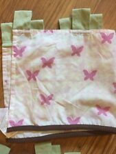 "2 COCALO BABY WINDOW VALANCE CURTAIN Butterflies PINK 53"" X 12"" TAB TOP"