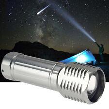 Compact 3000 Lumens CREE XM-L T6 LED Zoom Silver Flashlight Lamp Light Torch TL