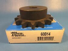 Martin 60B14 Sprocket, 60 Single Strand Chain, 14 Teeth, Reborable, Steel