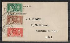 Trinidad & Tobago 1937 FDC  Coronation Set ,VF !! (RN-7)