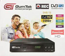 GumTek Full HD Freeview Set Top Box Recorder Digital TV Receiver scart Digi Box