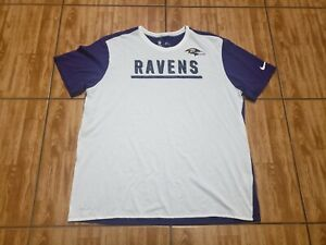 Nike Baltimore Ravens Shirt Adult 2XL White Purple Football Mens