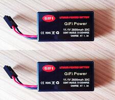 2 x 2600mAh 11.1v LiPo Battery Bateria For Parrot AR Drone 2.0