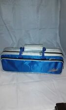 Blue/Silver Flute Hard Case For C Flute, Plush-Lined Foam Molded Interior-New