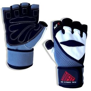 NFT Weight Lifting Gloves Training Gym Straps Fitness Bodybuilding Workout Wraps