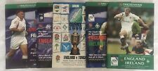 More details for england rugby union programmes x 5 4 six nations & 1 world cup '99 & 2000/02/03