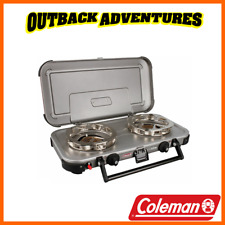 COLEMAN  FYREKNIGHT HYPERFLAME 2 BURNER GAS CAMPING STOVE CAMP COOKING NEW MODEL