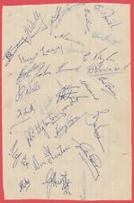 CHARLTON ATHLETIC 1953-1954 RARE ORIGINAL HAND SIGNED BOOK PAGE 29 X SIGNATURES
