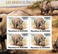 Rhinoceros (African White Rhino) Stamp Sheet #2 of 5 (2011 Burundi)