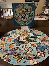 Vintage Springbok Burst of Butterflies 500 Piece Round Jigsaw Puzzle PZL6601