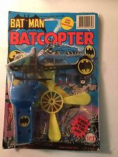Vintage 1974-77 Batman Batcopter/Len Hunter Trading on Original Card
