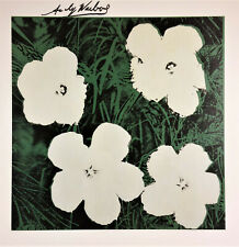 ANDY WARHOL HAND SIGNED * FLOWERS * PRINT