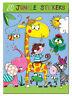 Childrens Stickers - JUNGLE ANIMALS by Rachel Ellen - Party Present Crafts Gift