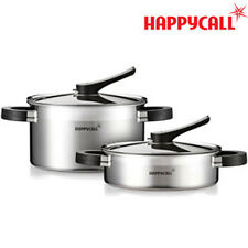 [HAPPYCALL]Full-body 3-ply IH Stainless Steel Ceramic Pots  2 Set C ///